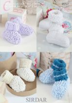 Sirdar Snuggly Bubbly - 4557 Boottees Knitting Pattern